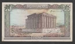 Lebanon,50 Livre,Pound,1/1/1988,No´ 65d, VG. (9) - Líbano