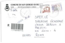SAN GIORGIO DI PESARO  61030  PROV. PESARO URBINO  - 2002 -  R  - STORIA POSTALE DEI COMUNI D´ITALIA - POSTAL HISTORY - Affrancature Meccaniche Rosse (EMA)