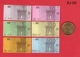 BJE 09  Série Billets De Jeu, Scolaire, Spielgeld, Factice - EURO