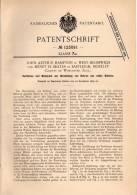 Original Patentschrift - J. Hampton In West Bromwich Und Eastleigh , Moseley , 1899 , Walzwerk Für Rohre !!! - Tools