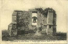 26j - 02 - Hartennes Et Taux - Aisne - Vestiges D´une Ancienne Eglise A Taux - France