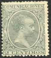 Edifil 213(*) Alfonso XIII Pelón 2 Cts Verde En Nuevo. Catálogo 7 Eur - 1889-1931 Reino: Alfonso XIII