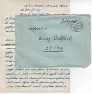 1013s: Feldpost Ober- Markersdorf (Ostmark) 8.8.1943 An FP 25199 - 1939-45