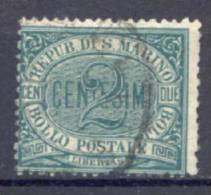 San Marino 1877 2 C. (Sass.1) Usato /Used VF - Saint-Marin