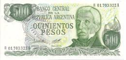 ARGENTINE 500 PESOS ND1977-82 UNC P 303 - Argentine