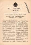 Original Patentschrift - C. Worthington In Dunnfield , New Jersey , 1899 , Steuerung Für Dampfmaschine !!! - Tools