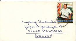 Liberia Cover Sent To Sweden 1976 President William R.Tolbert Stamp - Liberia