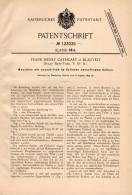 Original Patentschrift - F. Cathcart In Blauvelt , New York , 1899 , Maschine Mit Excentrisch Umlaufendem Kolben !!! - Tools