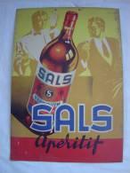 "Publicité Carton ""APERITIF SALS"". - Placas De Cartón"