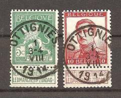 2 X Rond Stempel Ottignies   St Gibbons 135 En 144 - Ohne Zuordnung