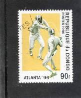 CONGO : Jeux Olympiques D´été à Atlanta -Etats-Unis (USA)- Escrime  - Sport - Gebraucht
