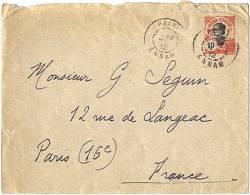 1912  Lettre Pré-timbrée 10 C. Pour La France  Oblitération  Phan--- Annam  Entier Postal - Indochina (1889-1945)