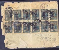 1923  Lettre Recommandée Pour Le Canada  Sc 39 X 12   Ouverte Brutalement Sur 3 Côtés - Azerbaïdjan