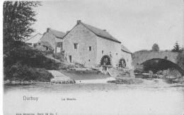 DURBUY - Le Moulin -  Superbe Carte Colorée (actuellement Roue Métallique Pour Dire L'emplacement Du Moulin) - Durbuy