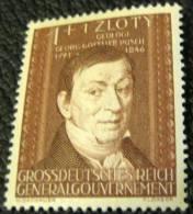 Poland 1944 Georg Gottlieb Pusch 1z +1z - Mint - 1939-44: World War Two