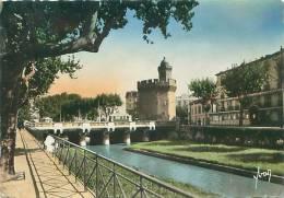 CPM - 66 - PERPIGNAN - Quai De La Basse Et Le Castillet - Perpignan