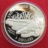 Cook Islands 5 $ 1996 Crocodile - Cook