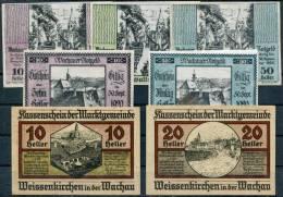 WACHAU (SCHWALLENBACH, EMMERSDORF, WEISSENKIRCHEN) - 7 Notgeld (3+2+2) - Austria