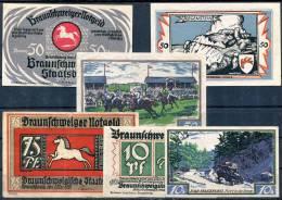 BRAUNSCHWEIG - 6 Notgeld (4 Types) - [11] Local Banknote Issues