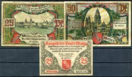 MAINZ 1921 - 3 Notgeld - [11] Emissions Locales