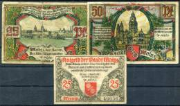 MAINZ 1921 - 3 Notgeld - [11] Local Banknote Issues