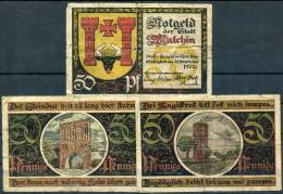MALCHIN 1922 - 3 Notgeld (lower Cond.) - [11] Emisiones Locales