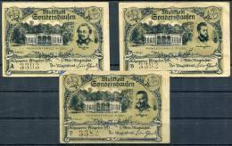 SONDERSHAUSEN 1921  -   3 Notgeld - [11] Local Banknote Issues
