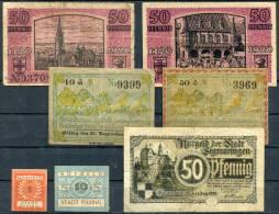 Bayern-Baden-Wurtt. - FREIBURG, ALTUSRIED, PASSING, SIGMARINGEN - 7 Notgeld - [11] Local Banknote Issues