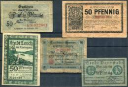 Hessen - DARMSTADT, WIESBADEN, HANAU, LORCH, HOCHST - 5 Notgeld - [11] Local Banknote Issues