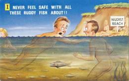 FITZPATRICK: On Se Sent Jamais Tranquille Avec Tous Ces Bon Sang De Poissons [ Humour Comic Anglais Nudisme 2012XI-05] - Illustrateurs & Photographes