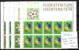 Liechtenstein   Nr. 10x  539-42 **  (zz1341 ) Siehe Scan-DISCOUNT - Ungebraucht