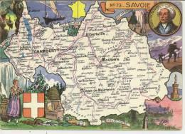 N° 73 - SAVOIE ( Déssin: J.P. PINCHON  ) ALBERTVILLE - MODANE - BEAUFORT - AIGUEBELLE - LAROCHETTE - Non Classés