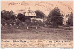 PONDROME ..-- BEAURAING ..-- -20%  Château D´ ESCLAYE . 1903 Vers ETHE ( Louis Kunge ) . Voir Verso . - Beauraing