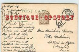 Carte Du Royaume Uni En 1912 Pour La France - Cachet + Timbre De 10Cts - Taxée à Saint Vaast La Hougue 50 Manche - Lettres Taxées