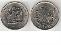 South Africa 20 Cents 1971    Km 86   Unc !!!  * - Sud Africa