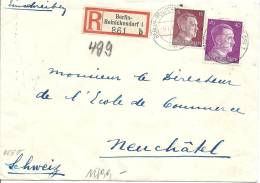 1942 Zensurbrief In Die Schweiz Nach Neuchatel - Briefe U. Dokumente