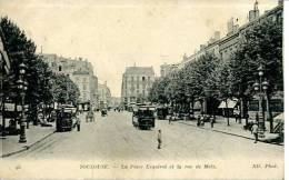 N°26031 -cpa Toulouse -la Place Esquirol Et La Rue De Metz-tramway- - Toulouse