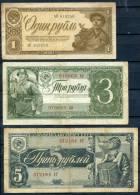 RUSSIA 1938 - 1-5 R (Pick 213-215) - Rusia