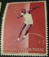 San Marino 1960 Olympics Rome Shotput 1l - Mint - San Marino