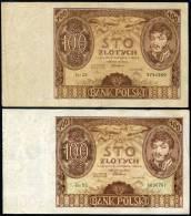 POLAND 1934 - 100 Zl (x2) 1F+1VF - Poland