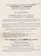 Facture Lettre-panhard Et Levassor-augmentation Capital Souscription - 1900 – 1949