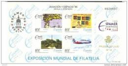 ESPO59-L1004TESSE.Hoja..P Rueba  Oficial.Aviacion Y Espacio.EXPO MUNDIA DE FILATELIA..EXPAMER 1996.(Ed P.O.59.) LUJO - Space