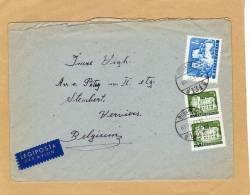 Enveloppe Brief Cover Budapest Verviers Belgium Legiposta Par Avion - Ungheria