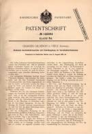 Original Patentschrift - Ch. Gilliéron In Viége / Visp , 1902 , Gesteinbohrmaschine , Bergbau , Tunnelbau !!! - Machines
