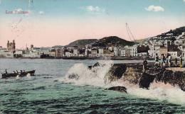 ## Spain PPC Las Palmas PUERTO DE LA PAZ (Canarias) 1930 To Denmark (2 Scans) - La Palma