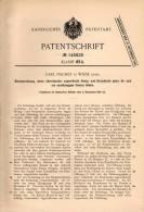 Original Patentschrift - C. Fischer In Gräflich Wiese / Łąka Prudnicka , 1901 , Bienenwohnung , Inkerei , Imke - Historische Dokumente