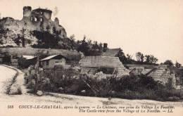 Coucy Le Château Après La Guerre Le Château Vue Prise Du Village La Feuillée - Weltkrieg 1914-18