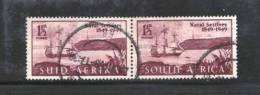 SOUTH AFRICA UNION 1949 Used Pair Stamps  British Settlers   Nrs. 209-210 - South Africa (...-1961)