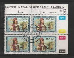 RSA 1988 CTO Controlblock Natal Flood Disaster 725-726 - South Africa (1961-...)