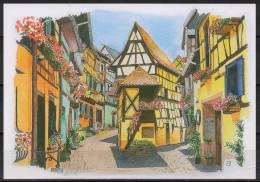 Alsace - Eguisheim - Carte Postale D'après Une Aquarelle - France